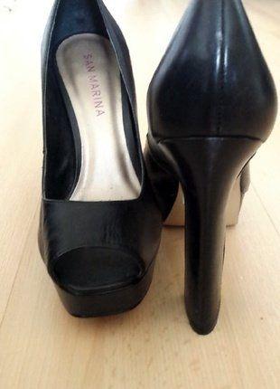 À vendre sur #vintedfrance ! http://www.vinted.fr/chaussures-femmes/talons-hauts-et-escarpins/37861923-escarpins-noirs-de-san-marina-cuir