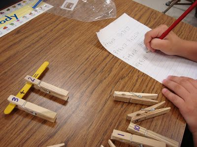 Simple and easy math tubs activity for addition number sentences.