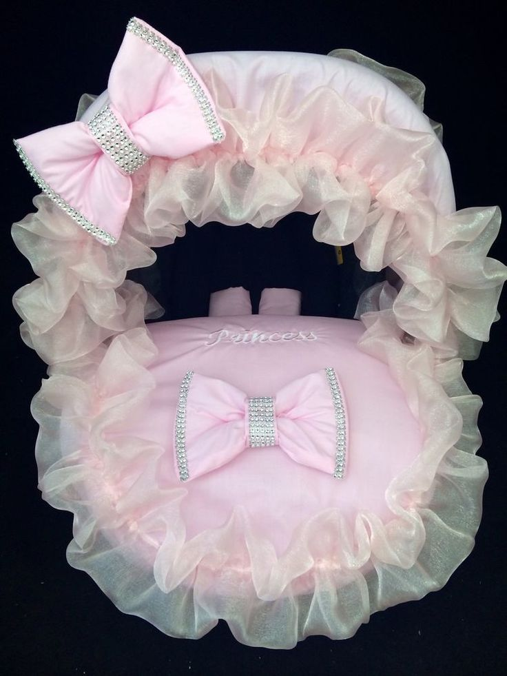 Baby Car Seat Footmuff Covers Personalised Pink Bling Hood,Pink Pads & Bows. in Baby, Car Seats & Accessories, Car Seat Accessories | eBay