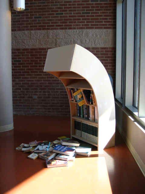 Not the best storage piece but worthwhile as artLibraries, Bookshelves, Book Nerd, Sadness Bookshelf, Funny, Book Shelves, Art Installations, Sadness Bookcas, Shelves United