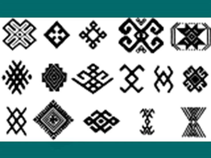 Рисунок орнамента в башкирском костюме