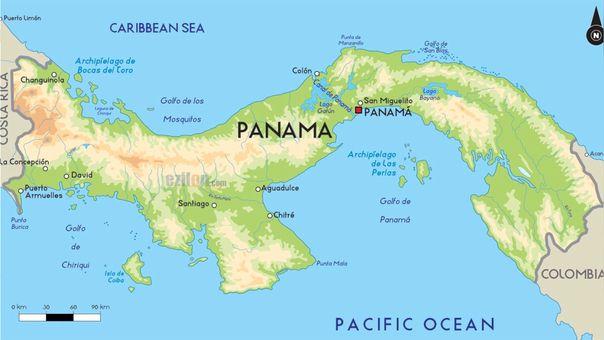 Canal De Panama Mapa Canal De Panama Ciudad De Panama