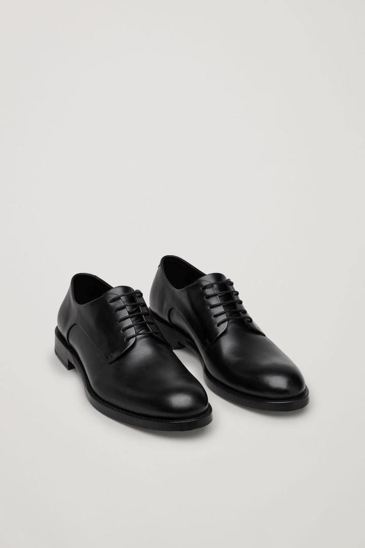 0854385cfd COS image 2 of Matte-leather derby shoes in Black