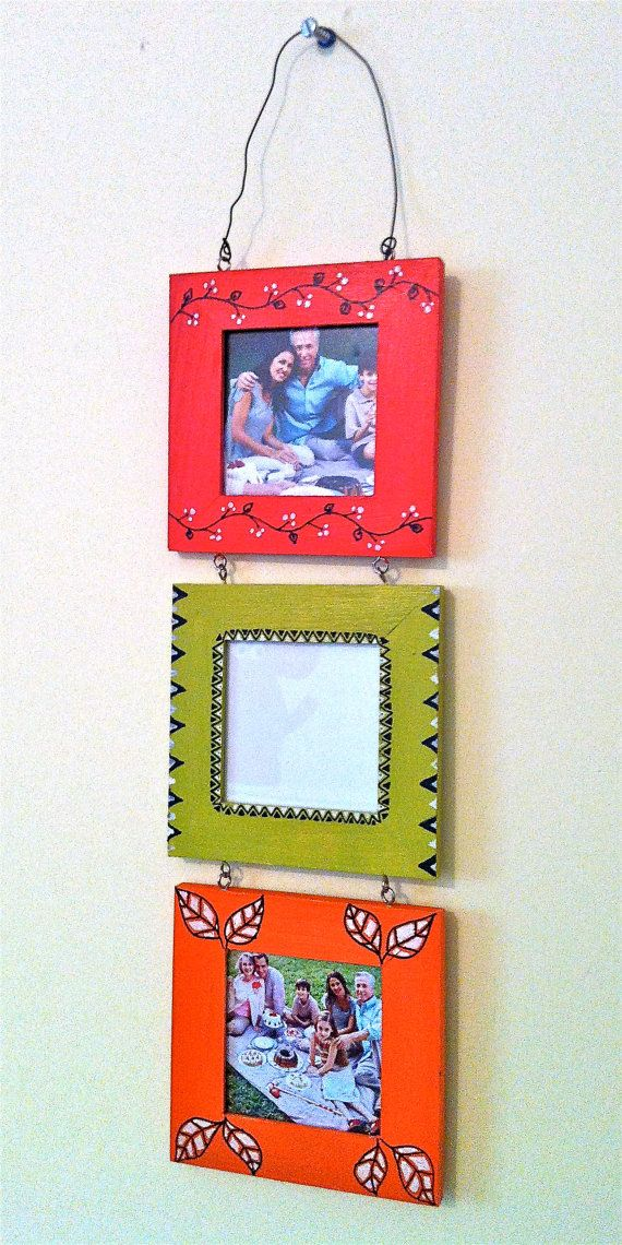 Hand Painted Photo frames by sukhu on Etsy, $8.00
