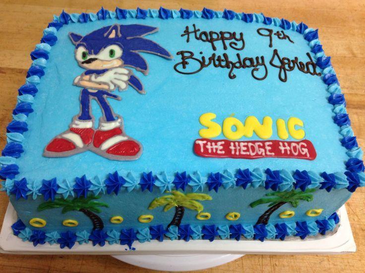 Die Besten 25 Sonic Geburtstagskuchen Ideen Auf Pinterest Walmart Bakery Birthday