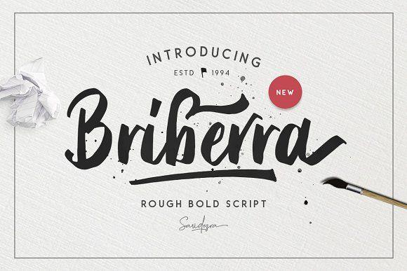 Briberra - Rough Bold Script Font @creativework247
