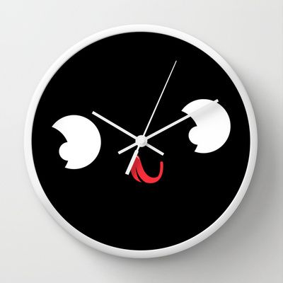 Cute face Wall Clock by Meni Tzima - $30.00