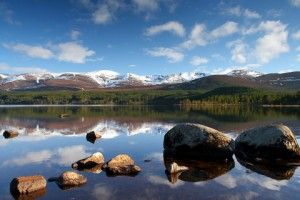 Cairngorms outside Aviemore in Scotland