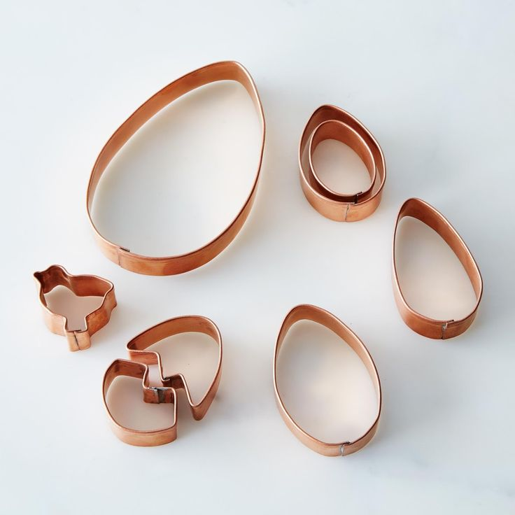 7th wedding anniversary is Copper - these Egg & Chick-Shaped Cookie Cutters would be perfect.