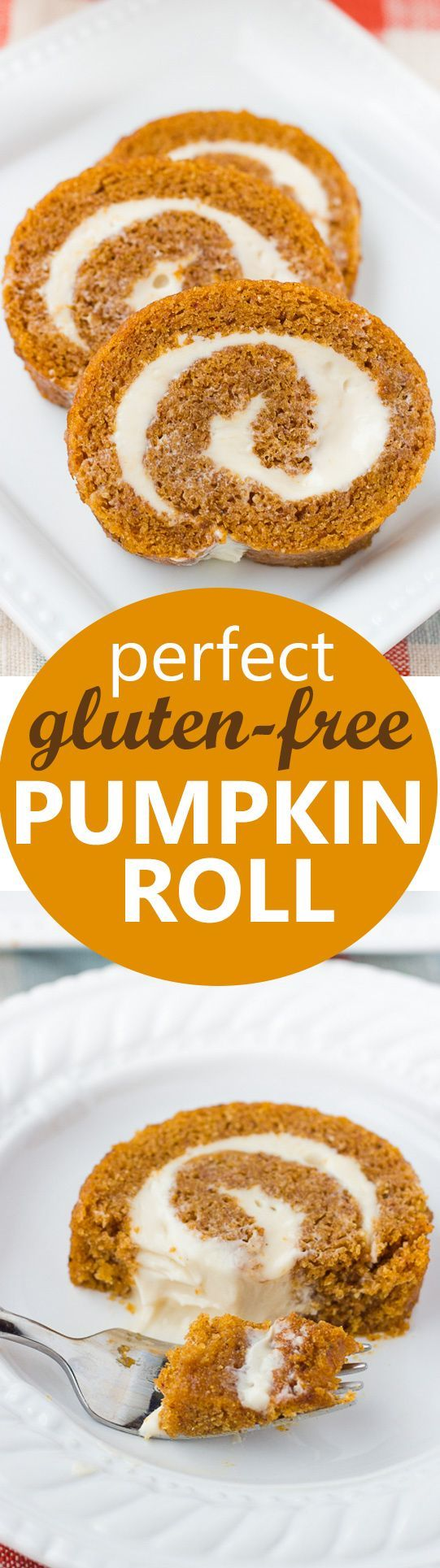 Perfect Gluten-Free Pumpkin Roll! Moist spiced cake with a cream cheese filling. Easily made dairy-free! (Butter Desserts Dairy Free)