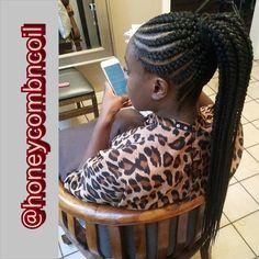 Extra long cornrow ponytail #tastemakers #crownkeeper #blackmagic #twists #crown #keepyouredges