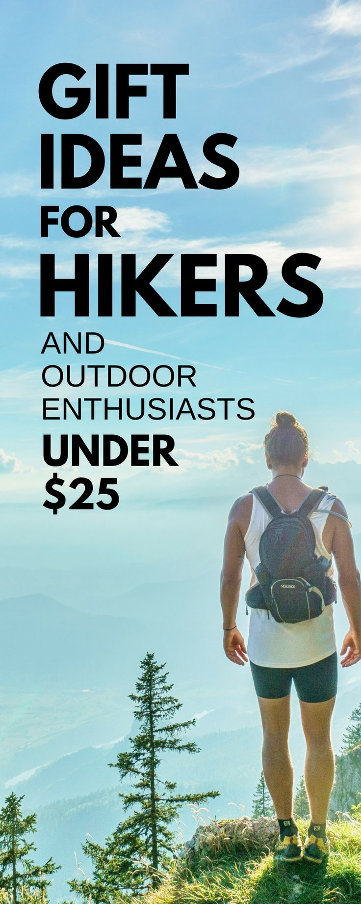 Hiking gift list for beginners and backpackers. Tips for gift ideas for hiking, camping, survival, emergency preparedness, outdoor enthusiasts. Some essentials as hiking gear, some home decor, coffee mugs with adventure travel and hiking quotes, jewelry for hikers. Items that might be on a day hike packing list or multi-day overnight backpacking checklist in hot weather summer and cold weather winter, including what to wear hiking, women and men. Fun hiking! #hikinggifts #hiking