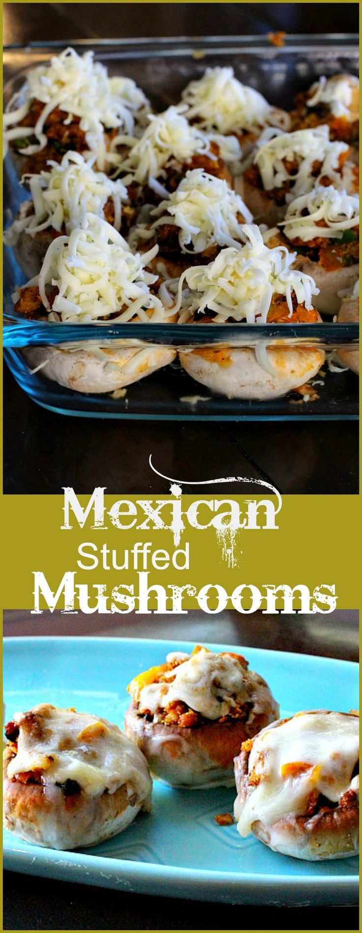 Little earthy button mushrooms come alive with Western flavors. Try these cheesy, chorizo, jalapeno pepper-stuffed mushrooms for your next appetizer. Mexican Stuffed Mushrooms make a great appetizer recipe.
