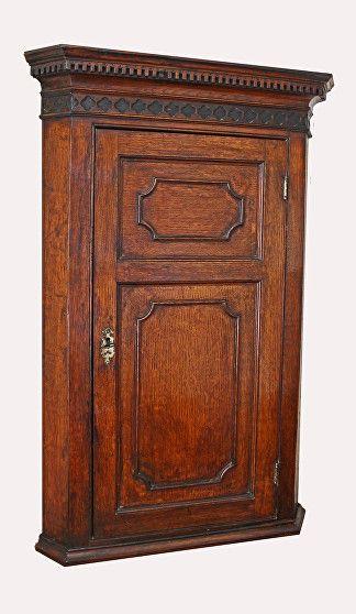 Georgian Oak Corner Cupboard for sale