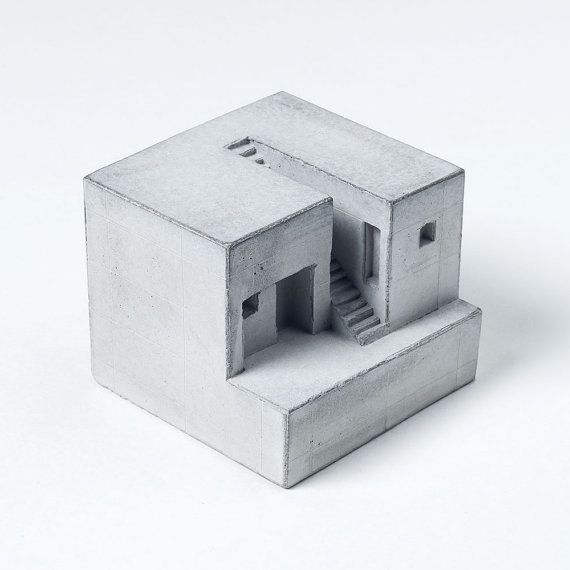 »Inspired by the best and most influential concrete architecture of the last century, these miniature concrete homes are designed to advocate«