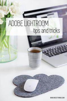 Bildbearbeitung in Lightroom: Tipps und Tricks // Mauspad aus Filz in Wolkenform
