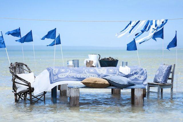 water - sea - blue - blauw - zee - Hennes & Mauritz Home zomer 2013
