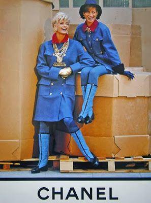 F/W 1991 CHANEL --> Linda Evangelista & Christy Turlington