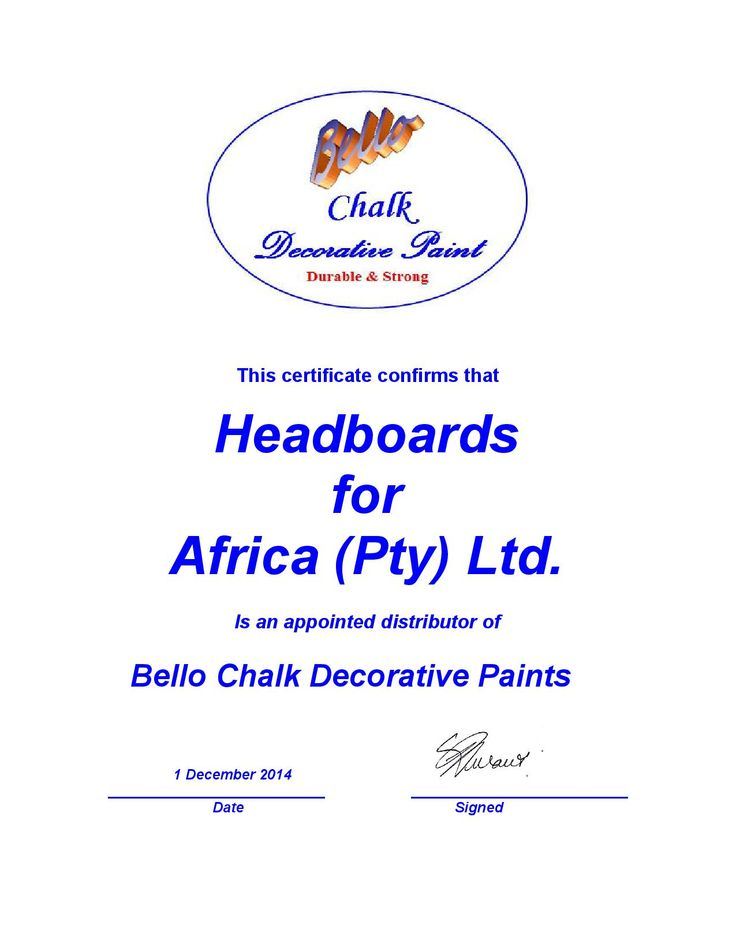 Headboards For Africa is now the appointed distributor for Bello chalk paints. Also now available to resellers