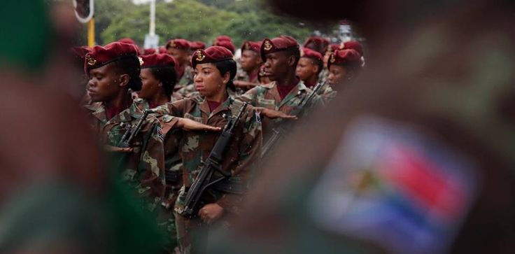Military personnel at the Armed Forces Day Parade in Durban on 21 February 2017