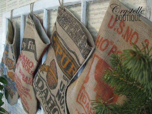 Potato Sack Stockings.  <3