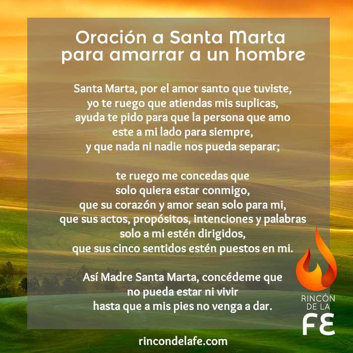 Descubre la oración a Santa Marta para dominar un hombre. Si la rezas durante tres días encendiendo una vela conseguirás permanecer junto al hombre que amas