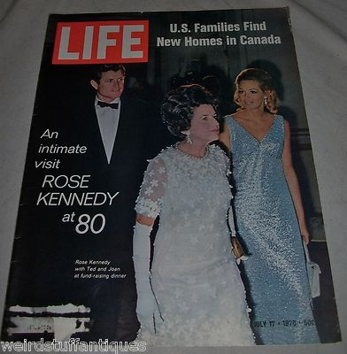 Life Magazine Rose Kennedy @ 80 Ted & Joan Jul 17 1970 issue New Homes in Canada: New Home, Rose Kennedy, Magazines Rose, Life Magazine