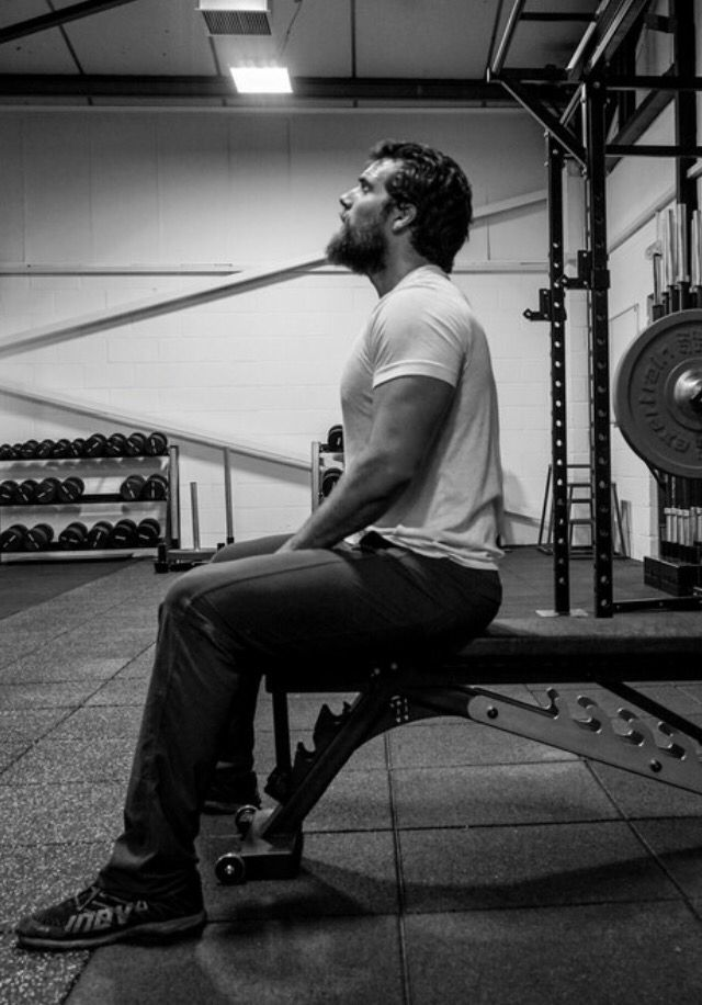 Henry Cavill, training.