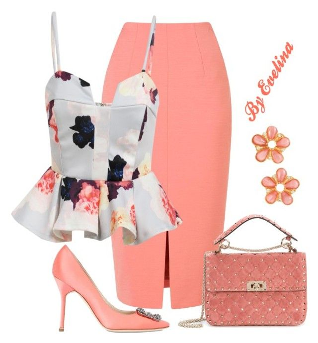 """""""EVE"""" by evelina-er on Polyvore featuring L.K.Bennett, Manolo Blahnik, Valentino and Ben-Amun"""