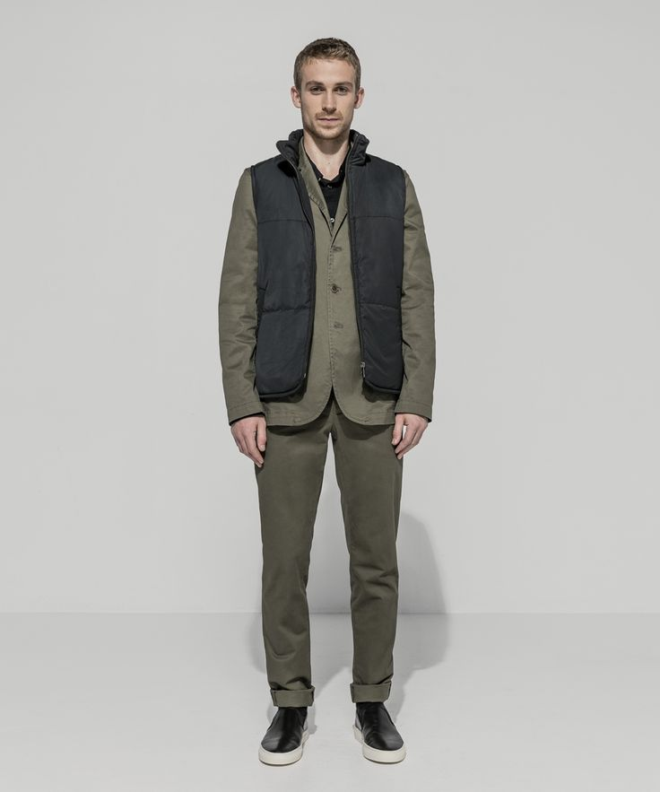Waterproof Taffeta Twill Puffer Vest (Carbon) Stretch Twill Unlined Semi Tailored Jacket (Khaki) Slim Fit Stretch Poplin Shirt (Black) Stretch Twill Slim Tailored Chino (Khaki)