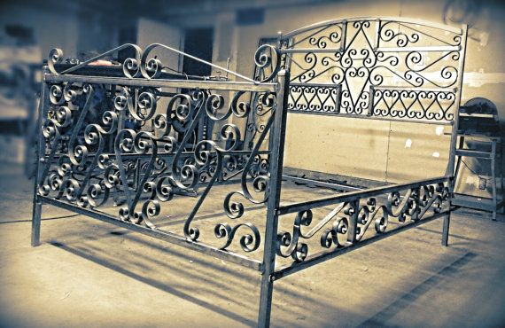 Hey, I found this really awesome Etsy listing at https://www.etsy.com/listing/158419920/beautiful-handmade-wrought-iron-bed