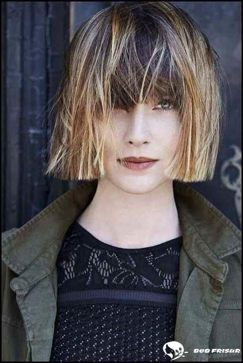 Dull bob hairstyles with bangs