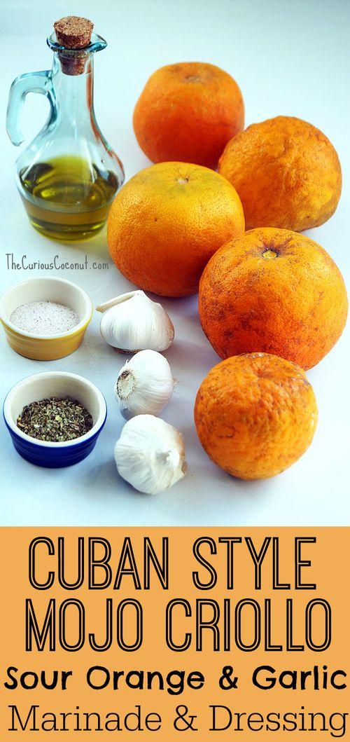 Cuban Style Mojo Criollo Sour Orange & Garlic Marinade & Dressing ::: TheCuriousCoconut.com