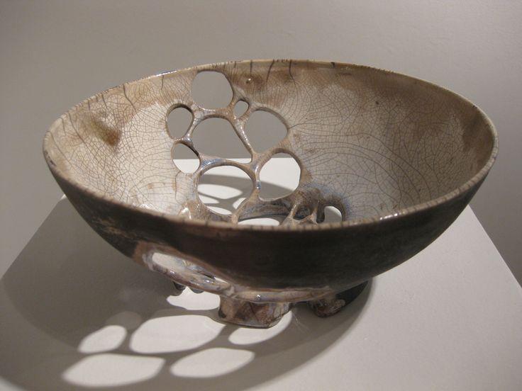 Christine Ruby #ceramics #pottery: Christine Ruby, Keramiek Schaal, Raku Bowls, Bowls 2011 Vessel, Holy Bowls, Ruby Ceramics, Ruby Shadows, Shadows Plays, Ruby Raku