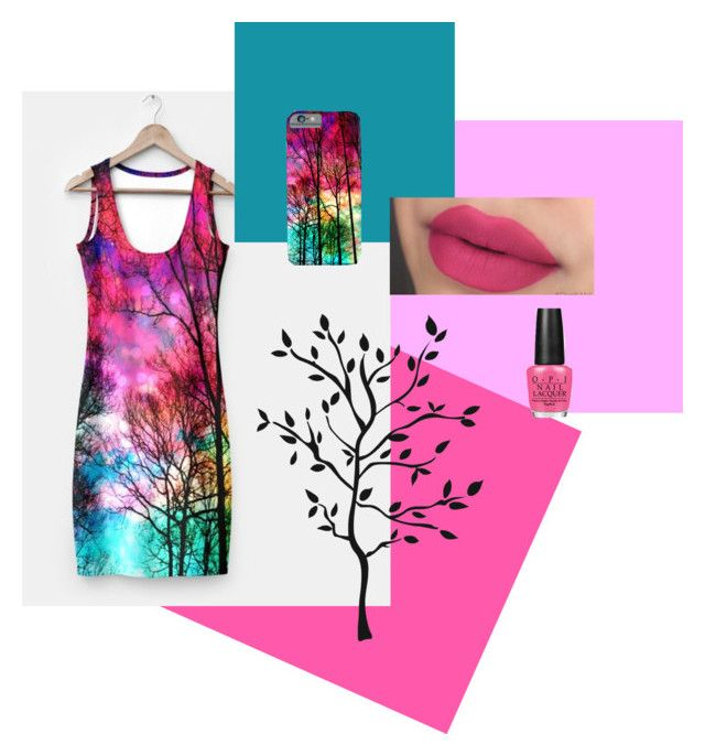 colorful sky by haroulita on Polyvore featuring OPI and RoomMates Decor