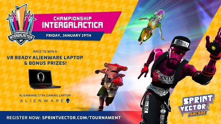 WIN A VR ready alienware laptop.Thanks for the sponsor @survios  Get ready for the first global VR Esport Tournament at @vr_corner Join #sprintvector arcade tournament today and come to VR Corner for training. Register now link in bio.  #esports #freelaptop #gaming #vrsydney #vrcorner #VirtualReality #huge #prize #competition #sprintvector #hype #exciting #alienware #dell #arcadegame #arcade #videogames