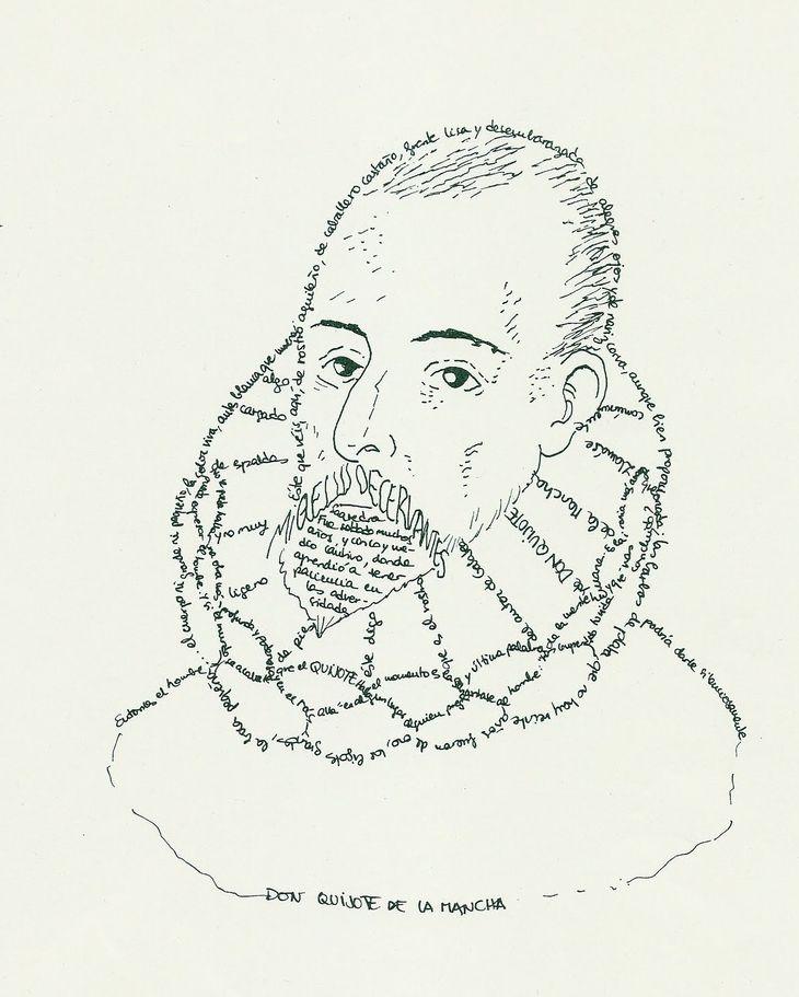Retrato tipográfico de Miguel de Cervantes