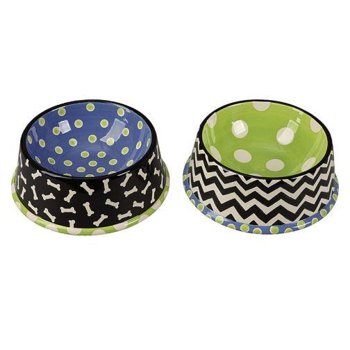 Dolomite Hand-Painted Dog Bowl