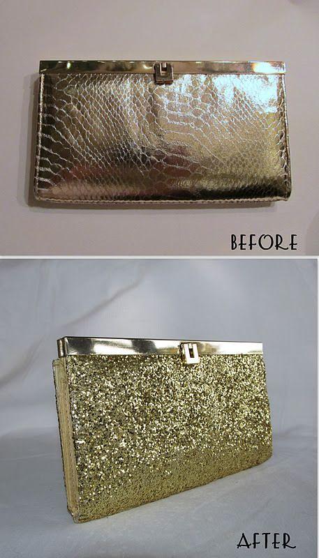 DIY clutch de glitter