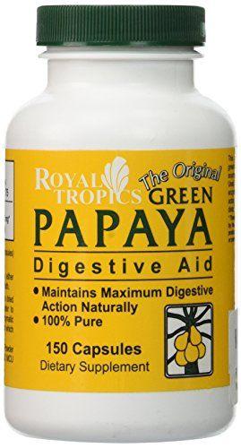 ROYAL TROPICS Green Papaya Digestive Enzymes 150 CAPS Roy... https://www.amazon.com/dp/B000RPFCBA/ref=cm_sw_r_pi_dp_x_1nBCyb9M5PYYM