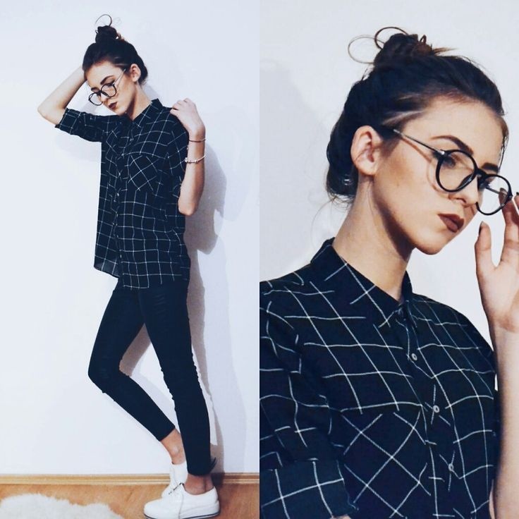 nice Emma Pavel - Pull & Bear Patterned Shirt - Chic Nerd... by http://www.dezdemonfashiontrends.top/street-style-fashion/emma-pavel-pull-bear-patterned-shirt-chic-nerd/