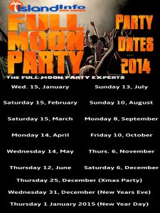 Full Moon Party Dates 2014