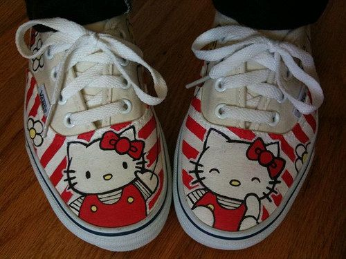 Hello Kitty Vans Shoes by denimtrend on Etsy, $79.00