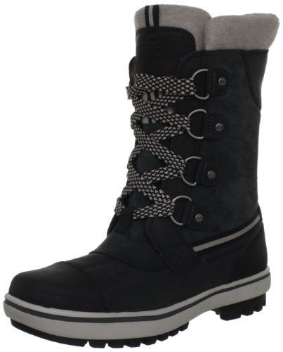 "Helly Hansen Women's W Varri Snow Boot Helly Hansen. $160.00. leather. Shaft measures approximately 8.75"" from arch. Heel measures approximately 1."". Made in Vietnam. Rubber sole"