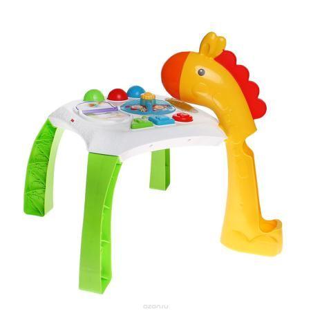 """Fisher-Price Обучающий столик Веселые животные  — 3638р. ------- Обучающий столик Fisher-Price """"Веселые животные"""" со световыми и звуковыми эффектами замечательно подойдет для увлекательных и познавательных игр малыша. Столик представляет собой игровую платформу, к которой крепятся четыре широкие ножки, одна из которых представляет шею жирафа. В ней имеется небольшое отверстие, в которое ребенок сможет опускать один из трех ярких шариков, входящих в комплект, и наблюдать, как они скатываются…"""