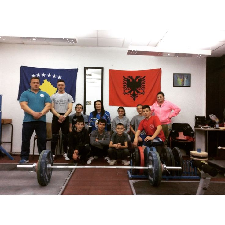 With the #weightlifting team of #Prishtina :-)