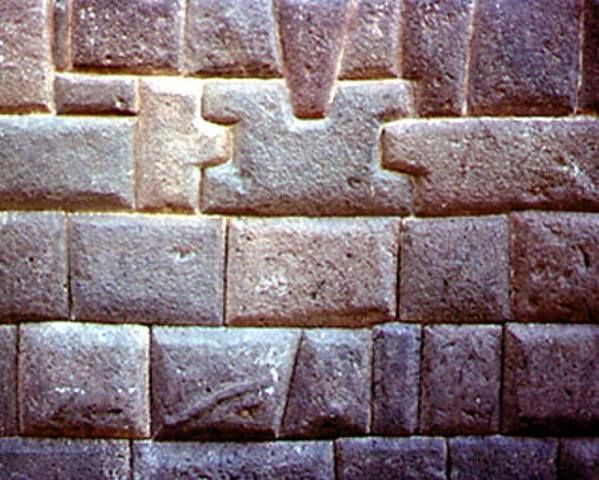 Ancient precision fit stone wall in Cusco