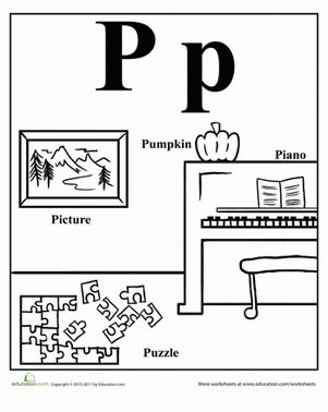 Here's a positively easy way to introduce and reinforce words that start with P for your young learner!