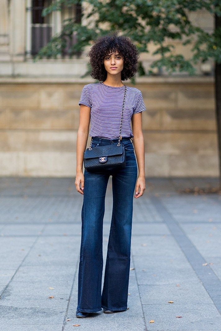 49 Wide Leg Jeans Outfits To Copy All Fall Long Flare