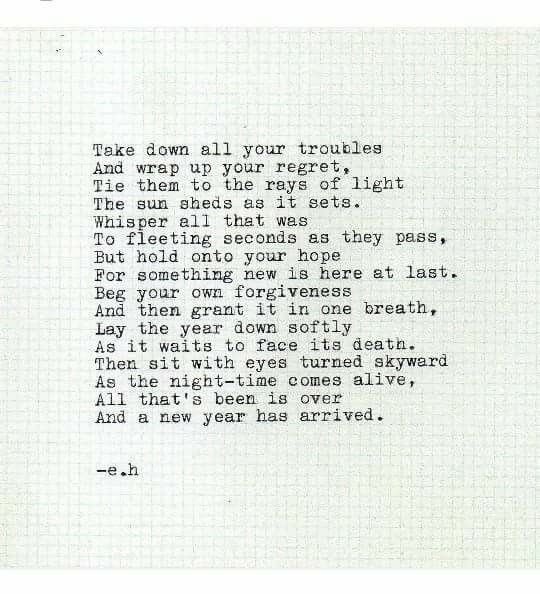 """""""Take down all your troubles..."""", a poem by Erin Hanson"""